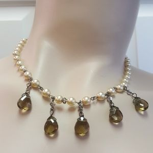 Jewelry - Pearl and Glass Necklace